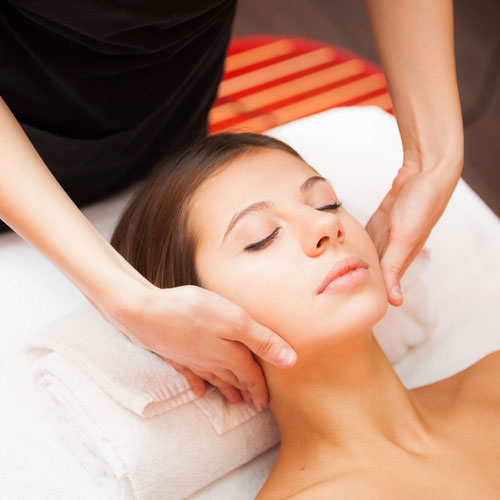 Facial as part of beauty package